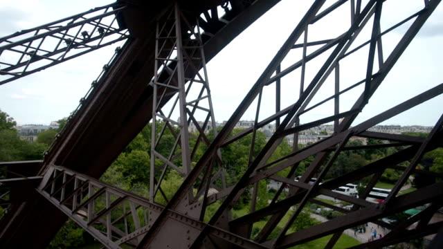 Eiffel tower elevator in Paris