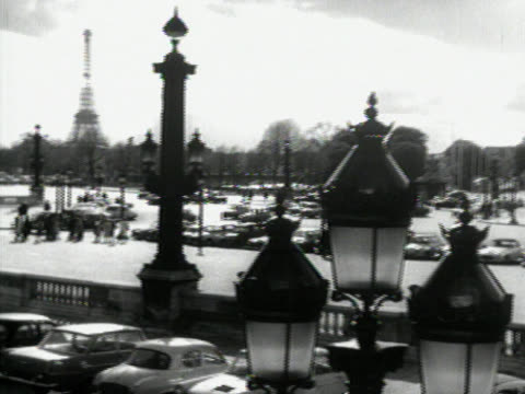 eiffel tower in 1965 - 1965 stock videos & royalty-free footage