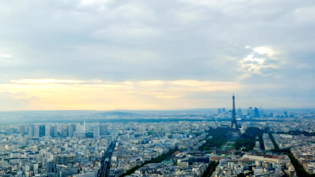 Eiffel tower in Paris, France - Stock Video - Stock Video - Stock Video