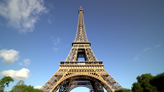 eiffel tower in paris, france - eiffel tower paris stock videos & royalty-free footage