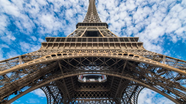 eiffel tower in paris - eiffel tower stock videos and b-roll footage