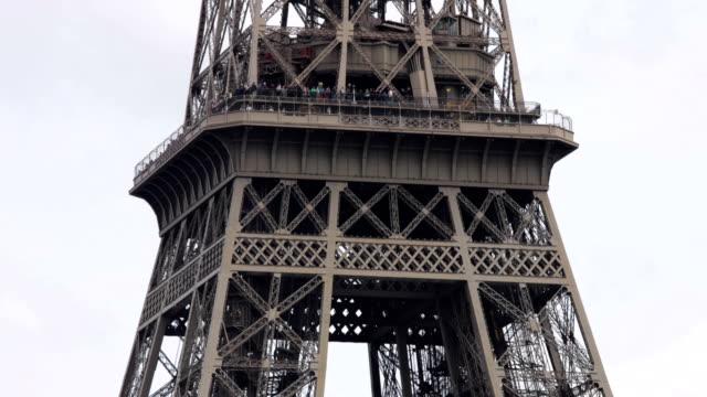 Eiffel tower panning up in Paris