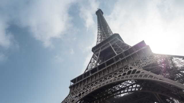Eiffel Tower, Paris, Time Lapse, Zoom in, Sunlight