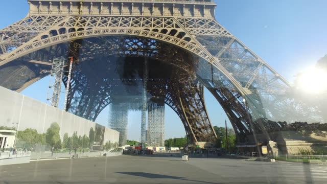 eiffel tower, paris - paris france stock videos & royalty-free footage