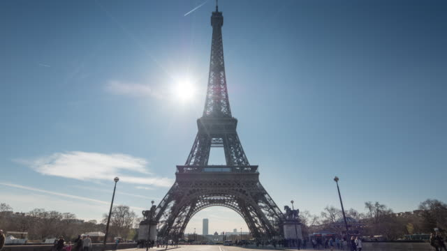 Eiffel Tower Paris with Traffic, France