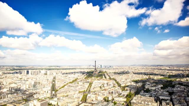 エッフェル塔の微速度撮影 - フランス点の映像素材/bロール
