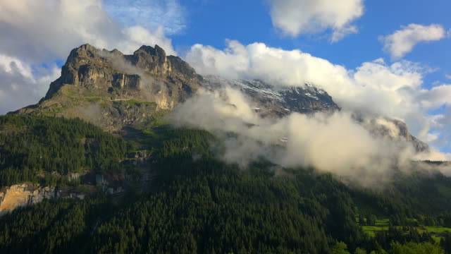 eiger, grindelwald, bernese alps, switzerland, europe - berner alpen stock-videos und b-roll-filmmaterial