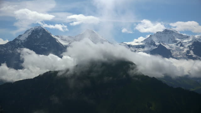 eiger, moench and jungfrau, bernese alps, canton of bern, switzerland - bernese alps stock videos & royalty-free footage