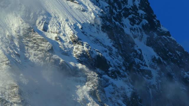 eiger north face, grindelwald, bernese oberland, canton of bern, switzerland - berner alpen stock-videos und b-roll-filmmaterial