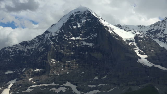 eiger north wall, bernese alps, canton of bern, switzerland - bernese alps stock videos & royalty-free footage