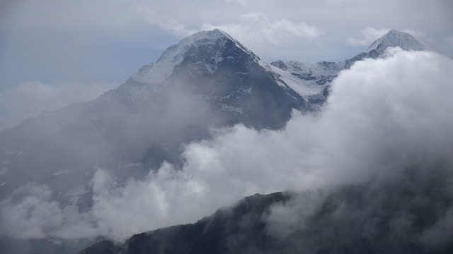eiger seen from schynige platte, bernese alps, canton of bern, switzerland - bernese alps stock videos & royalty-free footage