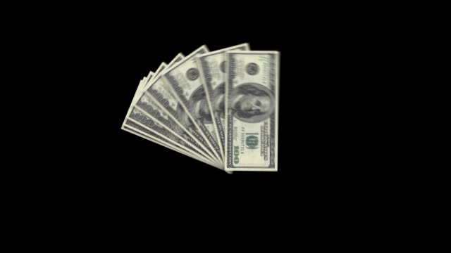 eight hundred dollar bills fan. alpha channel will be included when downloading the 4k apple prores 4444 file only. - american one hundred dollar bill stock videos & royalty-free footage
