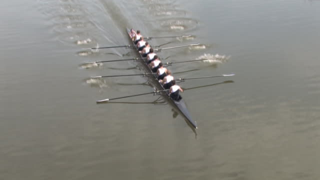 eight man rowing race - teamwork - rowing stock videos & royalty-free footage
