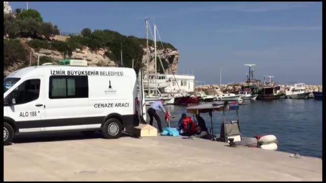 eight people died and one rescued as a boat carrying irregular migrants sank off turkey's aegean coast of izmir province security sources said on... - capsizing stock videos & royalty-free footage