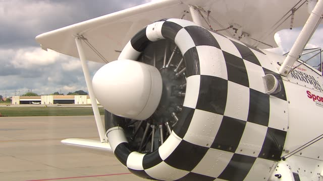 stockvideo's en b-roll-footage met wgn eight senior citizens most veterans of world war ii were invited to take flight in an opencockpit boeing stearman plane as a part of the... - getal 8