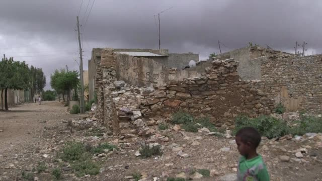 Eighteen years after the guns fell silent following Ethiopia's bloody border war with Eritrea the frontier town of Zalambessa is a quiet rubble...