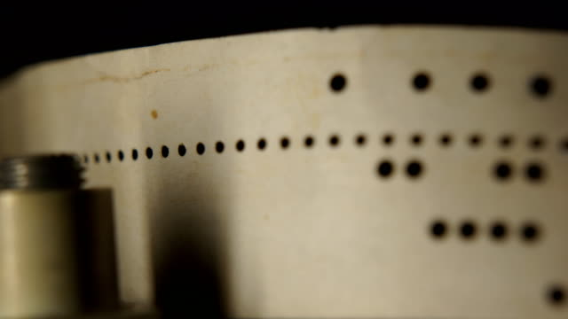 eight-hole punched paper tape - telegram stock videos and b-roll footage