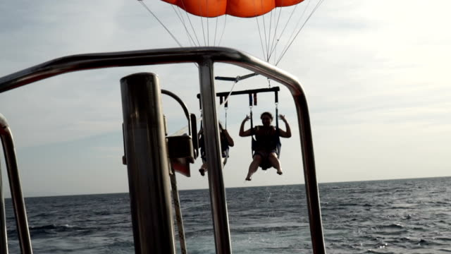 eilat parasailing - gulf of aqaba stock videos & royalty-free footage
