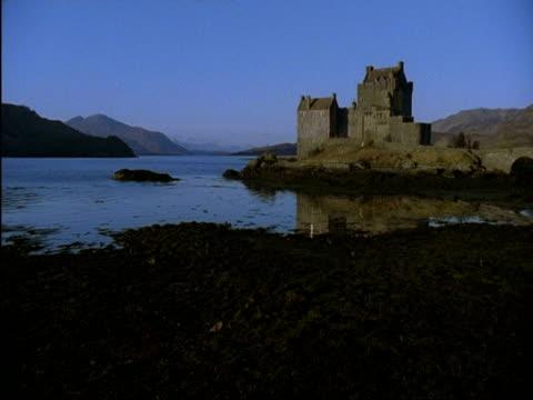WA Eilean Donan castle and sea Kyle of Lochalsh, Isle of Skye, Scotland