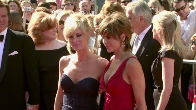 eileen davidson and lisa rinna at the 2007 daytime emmy awards at the kodak theatre in hollywood, california on june 15, 2007. - デイタイム・エミー賞点の映像素材/bロール