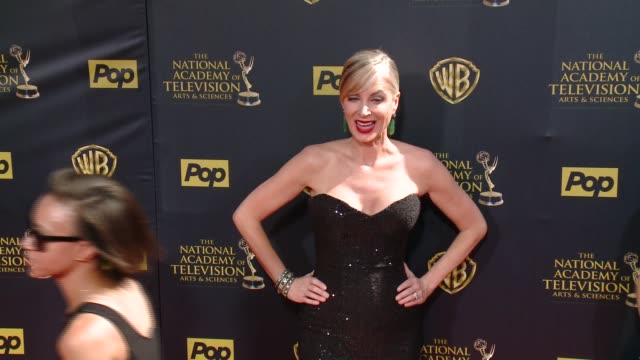 eileen davidson at 42nd annual daytime emmy awards at warner bros studios on april 26 2015 in burbank california - annual daytime emmy awards stock videos & royalty-free footage