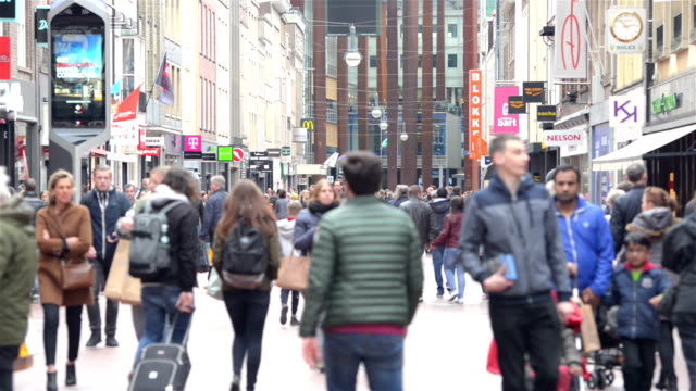 eindhoven city center - city street stock videos & royalty-free footage
