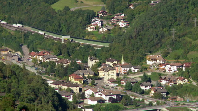 eisacktal in south tyrol with brenner highway pan tl - tyrol state austria stock videos and b-roll footage