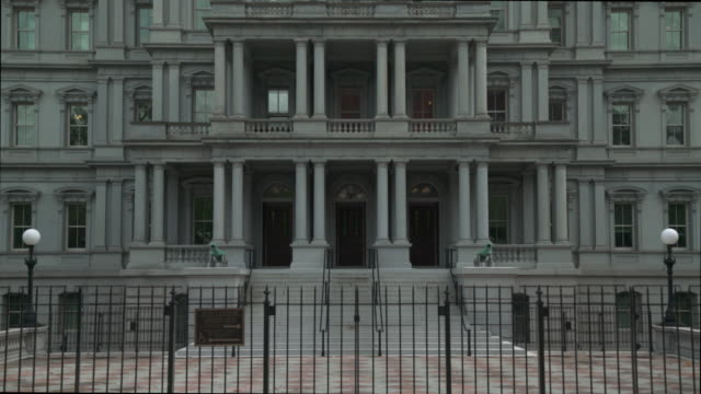 eisenhower executive office building - white house west wing in 4k/uhd - president stock videos & royalty-free footage