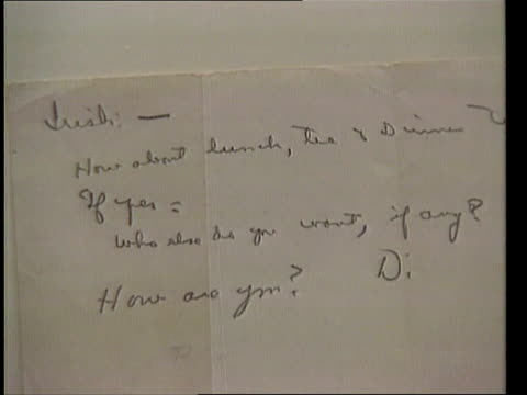 New York CS Extract from letter CS Ditto CMS Selby Kiffer intvwd SOF there is evidence of a romance in letters if you wish to see it / if you don't...