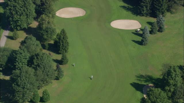 AERIAL Eisenhower Park Golf Course / East Meadow, New York, USA