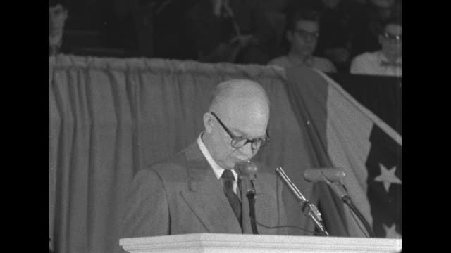 eisenhower speaks about the rights of free speech at the republican convention - 1952 stock videos & royalty-free footage