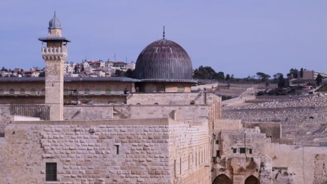el aksa mosque - east jerusalem stock videos and b-roll footage