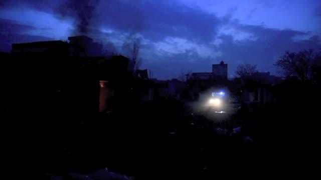 el ano nuevo comenzo con violencia en afganistan: en el centro de kabul un restaurante de cocina francesa fue objeto de un atentado suicida... - restaurante stock videos & royalty-free footage