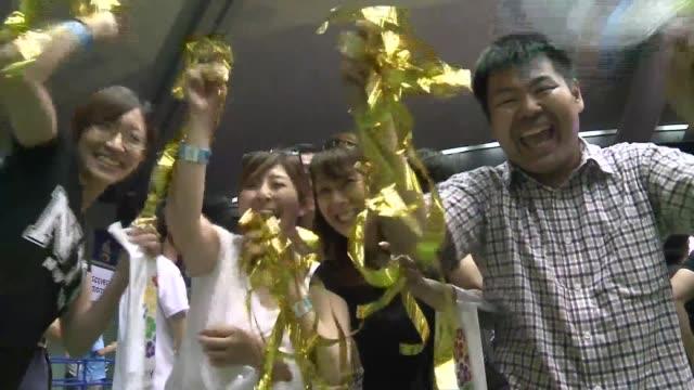 el anuncio de que tokio sera la sede de los juegos olímpicos 2020 hizo saltar de alegría a los japoneses, que lograron dejar atrás el fantasma de... - olympische spiele stock-videos und b-roll-filmmaterial