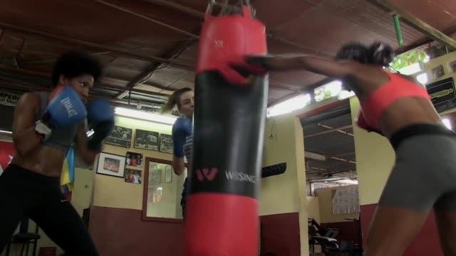 el boxeo es el deporte que mas exitos le ha dado a cuba pero ironicamente las mujeres aun no pueden competir oficialmente - subir stock videos and b-roll footage