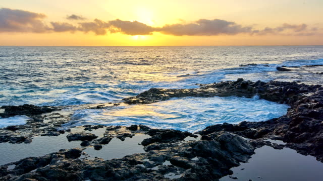 el bufadero - gran canaria,  sunrise time lapse video - grand canary stock videos and b-roll footage