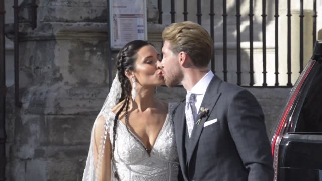 ESP: Sergio Ramos y Pilar Rubio se casaron en Sevilla