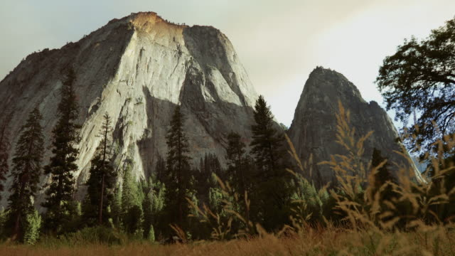 el capitan on fire in yosemite national park, california - nature reserve stock videos & royalty-free footage