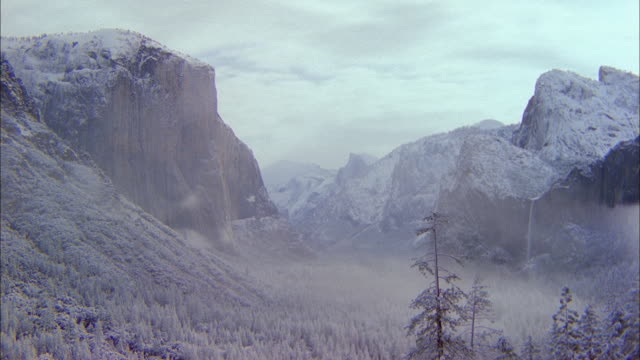 El Capitan towers over Yosemite Valley.
