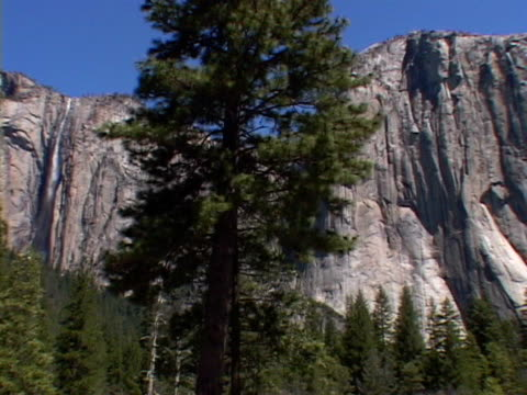 el capitan, yosemite national park - upper yosemite falls stock videos & royalty-free footage