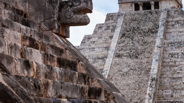 el castillo pyramid - mayan stock videos & royalty-free footage