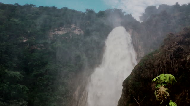 el chiflón waterfall in chiapas - eco tourism stock videos & royalty-free footage