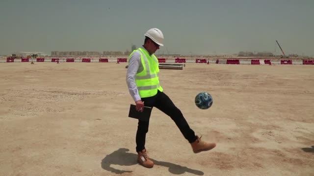 El comite organizador del Mundial de futbol Catar2022 anuncio el miercoles que han comenzado las obras del Losail Stadium el recinto para 80000...