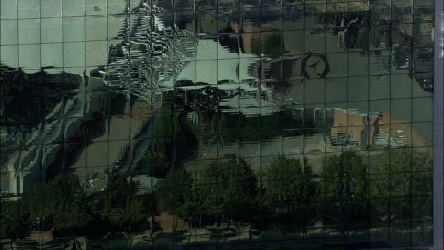 エルコルテイングレス(ショッピングモール)-航空写真カタルーニャ、バルセロナ、スペイン - 骨盤点の映像素材/bロール