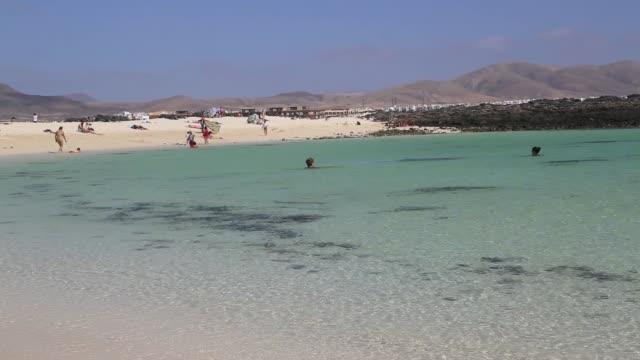 el cotillo beach in fuerteventura - 50 seconds or greater stock videos & royalty-free footage