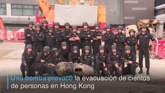 El descubrimiento de una bomba de la Segunda Guerra Mundial en Hong Kong provoco la evacuacion de al menos 1200 personas