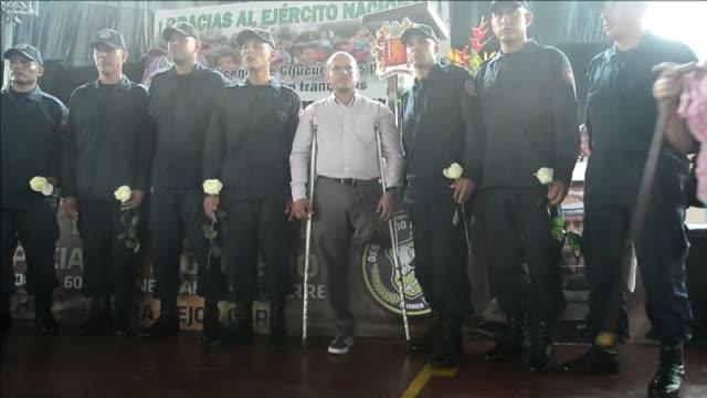 el ejercito de colombia declaro este sabado al municipio de san vicente de chucuri noroeste antes afectado por minas antipersona libre de estos... - minas stock videos and b-roll footage
