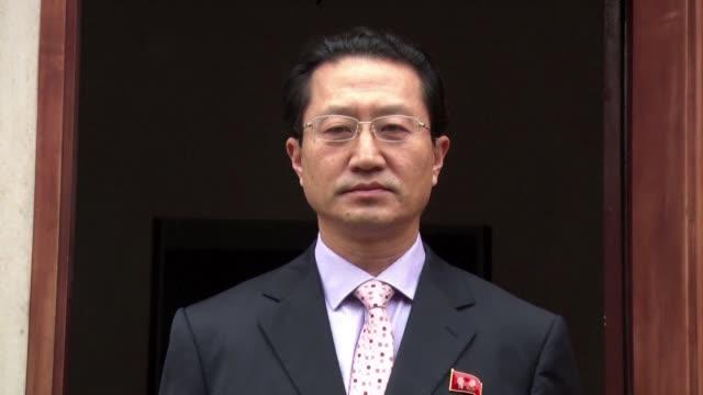 el embajador de corea del norte en lima kim hakchol a quien peru dio el lunes cinco dias para abandonar el pais debido a los ensayos nucleares de... - gasolina stock videos & royalty-free footage