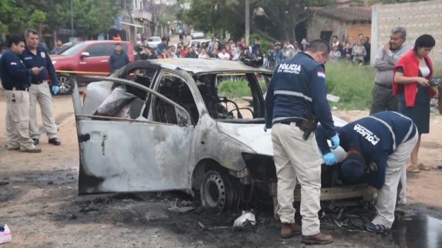 el enfrentamiento con una banda de delincuentes que organizo una emboscada para liberar a un narcotraficante paraguayo preso dejo un muerto a tiros y... - drug trafficking stock videos & royalty-free footage