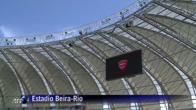 el estadio beira rio de porto alegre albergara cinco partidos de la copa del mundo - brasile meridionale video stock e b–roll